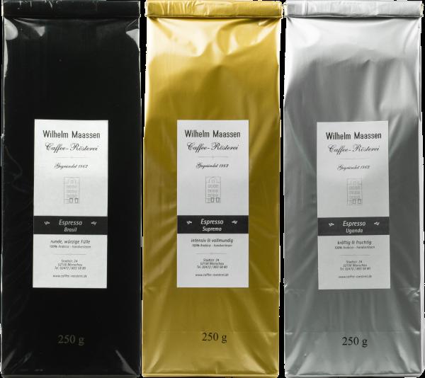 Espresso Probier-Paket 3x250g