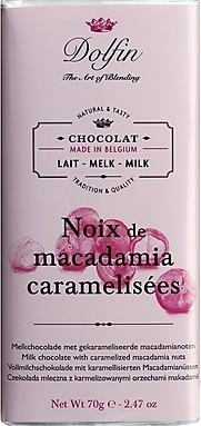 Dolfin Edel-Vollmilch mit Macadamia-Nüssen